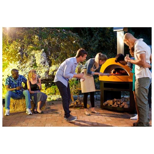 FXALLE-LGIA Alfa FXALLE-LGIA Allegro Outdoor Steel Italian Pizza Wood Oven with Base, Yellow 6