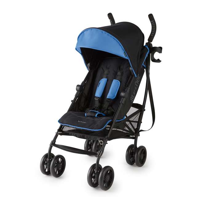32773 Summer Infant 3DlitePlus Convenience One-Hand Adjustable Stroller Blue/Black