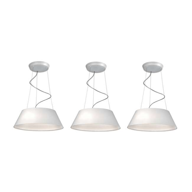 3 x PLC-405503148 Philips 405503148 Ledino Cielo Pendant Light, White (3 Pack)