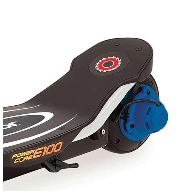 13111210 + 97780 Razor Power Core E100 Electric Scooter, Blue + Razor V17 Childrens Helmet, Glossy Black 5