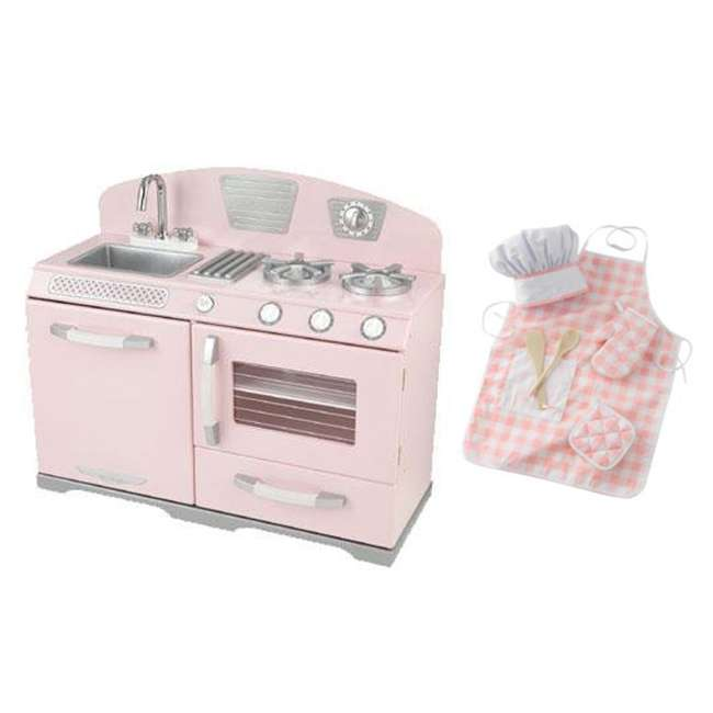 Kidkraft Pink Retro Kitchen Stove Amp Oven With Pink Chef