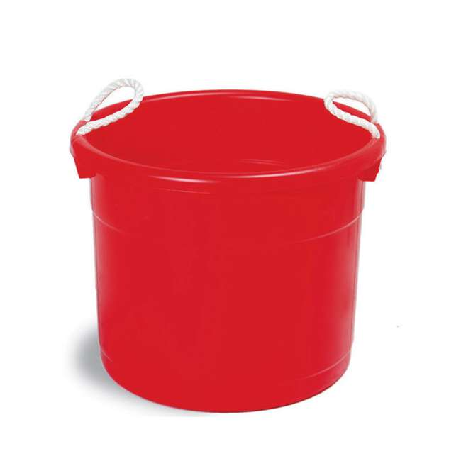 6 x 8119RD-6 Continental Commercial Huskee Hauler 19-Gallon Bucket (6 Pack) 3