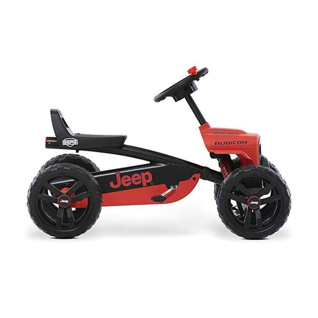 24.30.13.00 BERG Toys Jeep Buzzy Rubicon Pedal Powered Kids Safe Go Kart, Red 1