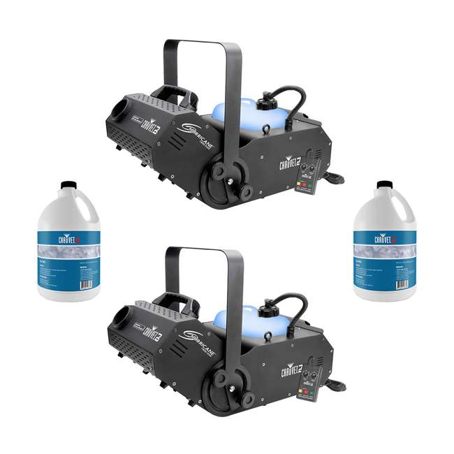 H1800FLEX + 2 x FJU Chauvet DJ Smoke Pro Machine w/Timer Remote(2 Pack) & Smoke Fluid (2 Pack)