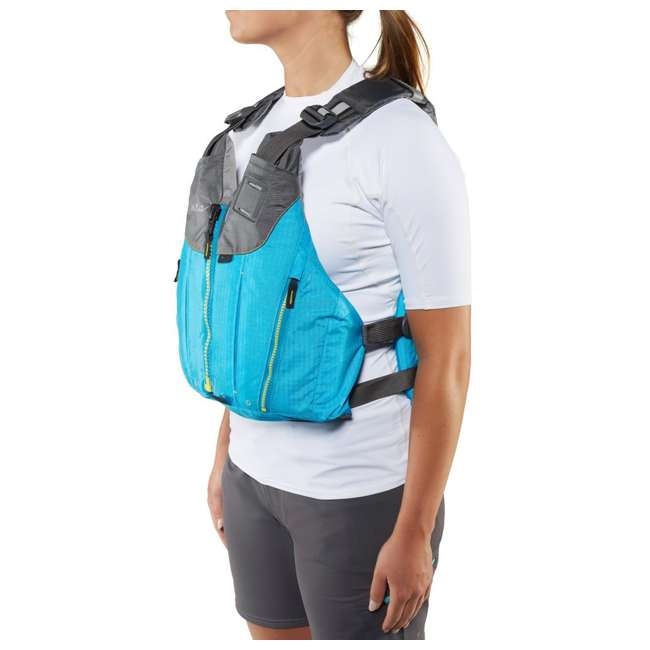40073.01.103 NRS Womens Nora Type III Fishing Life Jacket Vest PFD w/ Pockets, Large/XL, Teal 6