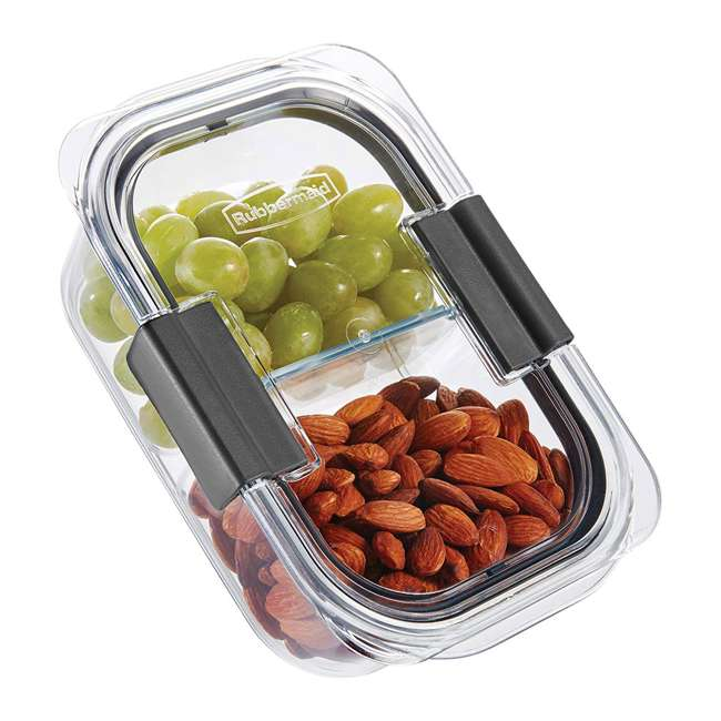 2027441 Rubbermaid Brilliance 9 Piece Food Storage Container Combo Kit Set, Clear/Gray 3
