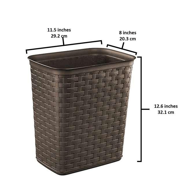 10346P06 Sterilite Weave 3.4 Gallon Plastic Home/Office Wastebasket Trash Can (6 Pack) 1