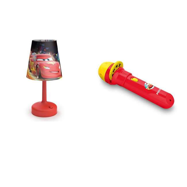 PLC-7178832U0 + PLC-7179632U0 Philips Disney Pixar Cars Projector Flash Light w/ Philips Disney Cars Lamp