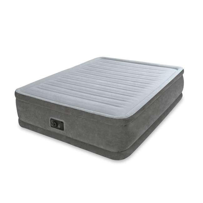 64413E Intex Queen Comfort Plush Elevated Airbed with Built-In Pump