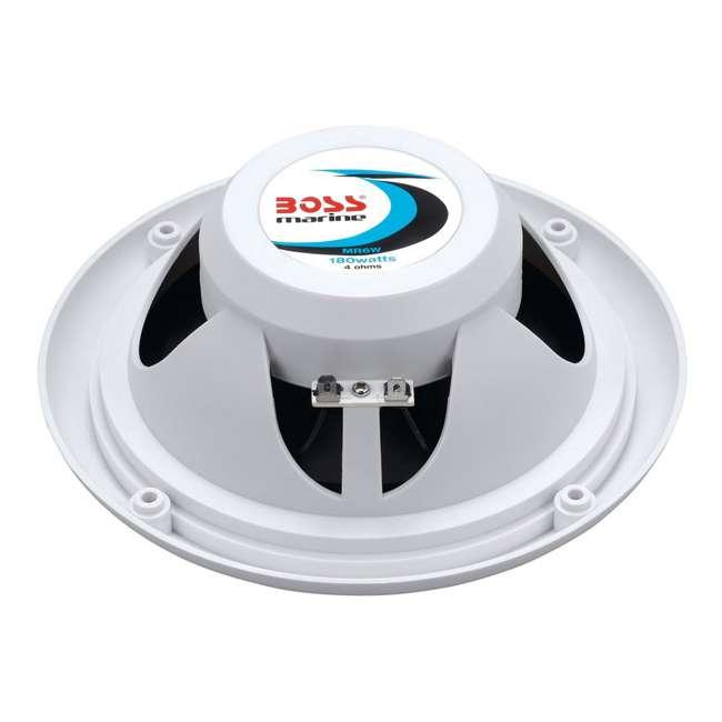 MR6W Boss Audio MR6W 6.5-Inch 180W Dual Cone Marine Speakers - White (Pair) 2