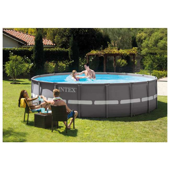 "26321EH + 6 x 29000E Intex 16' x 48"" Ultra Frame Above Ground Pool Set and Six Filter Cartridges 2"