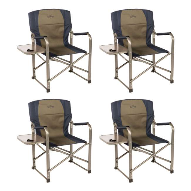 4 x CC105 Kamp-Rite Folding Director's Chair with Side Table (4 Pack)