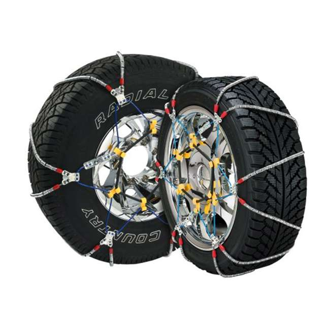 SZ441-U-A Super Z 6 Compact Cable Tire Snow Chain Set for Cars, Trucks, & SUVs (Open Box)