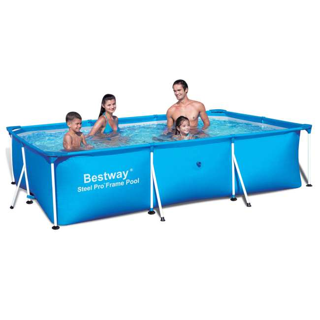 Bestway 118 X 79 Inches Deluxe Splash Frame Pool 568498 56498 Bw