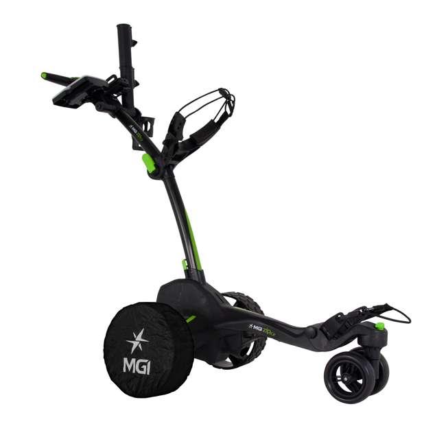 US-ZIPX5B MGI Zip X5 Electric Golf Push Cart Swivel Wheel Caddie with Accessories, Black