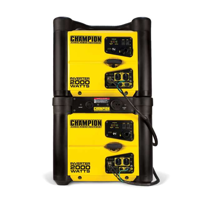CPE-GN-73536i-U-D Champion 2000 Watt Quiet Camping Gasoline Power Inverter Generator (Damaged) 1