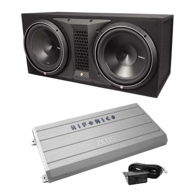 Rockford Fosgate P3-2X12 12-Inch 2400W Dual Subwoofers + Enclosure + 2400W  Mono Amp (Package)