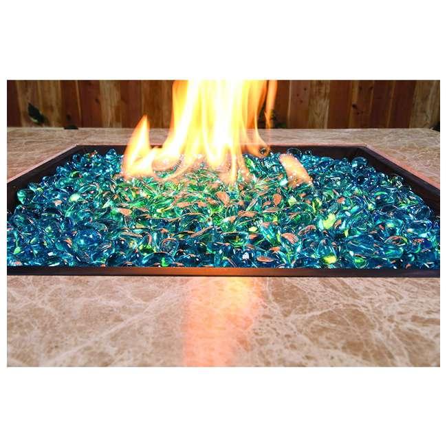 67994 Bond Manufacturing 67994 LavaGlass Mini 10 Pound Fire Pit Glass, Bodega Blue 2