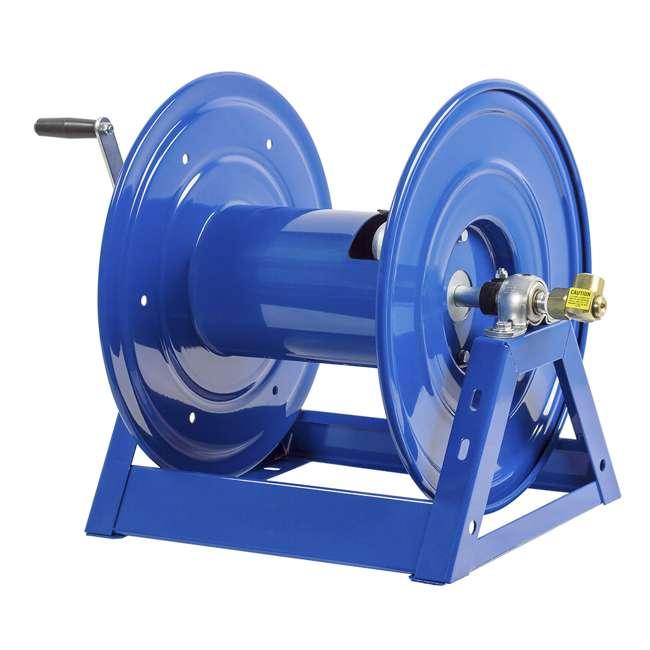 1125-4-100 Coxreels Steel Hand Crank Hose Reel 100 Foot Capacity, Blue 4