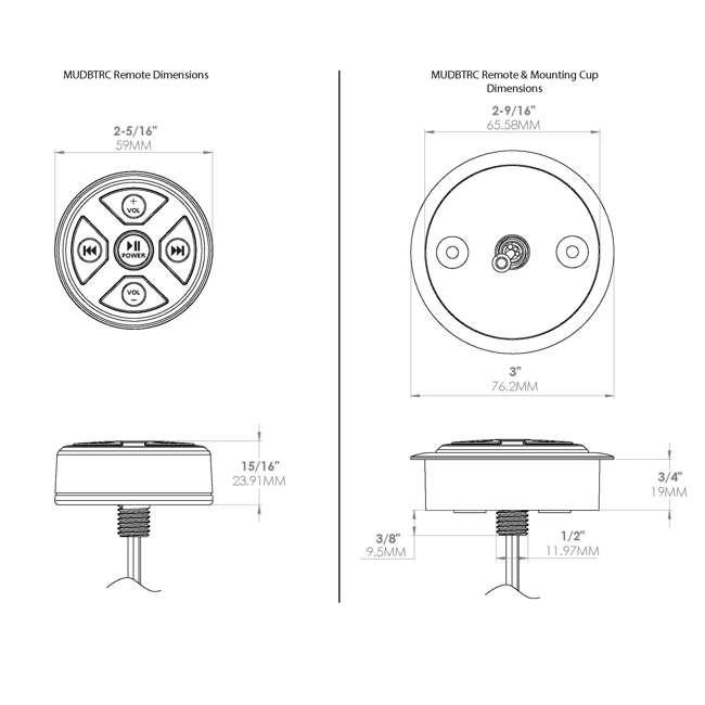 MUDBTRC MTX MUDBTRC Universal Bluetooth Receiver and Remote Control 4