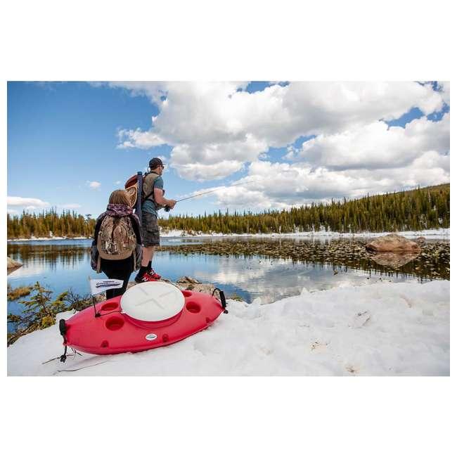 CK00227R-U-B CreekKooler Kayak or Canoe River Floating Beverage & Food Cooler, White (Used) 1