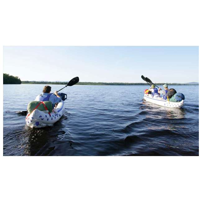 SE370K-PRO Sea Eagle 370 Pro 3 Person Inflatable Portable Sport Kayak Canoe Boat w/ Paddles 2