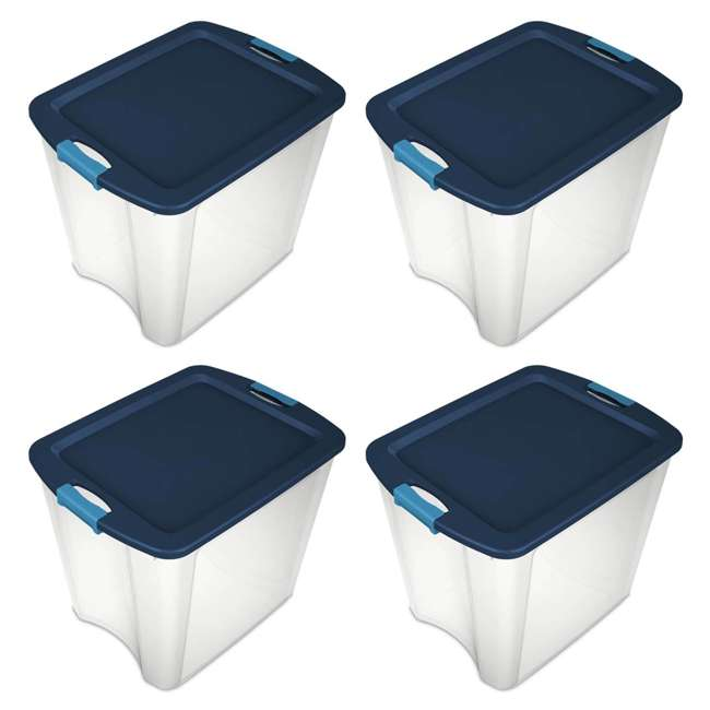 4 x 14489604-U-A 4 Pack Sterilite 26 Gallon Latch & Carry Storage Tote Box Containers (Open Box) 9