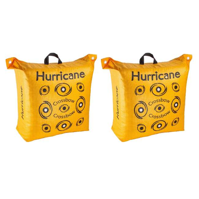 H60410 Hurricane Double Sided 460 FPS Woven Crossbow Archery Bag Target, Yellow(2 Pack)