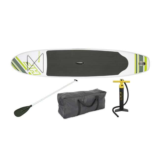 15477-BW + 68307EP Bestway Inflatable Hydro Force Paddle Board w/ Intex 2 Person Kayak & Air Pump 1
