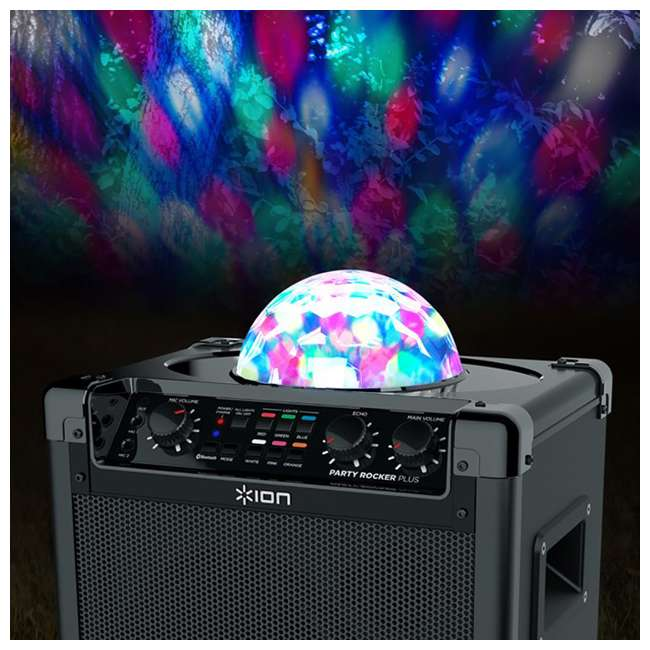 Ion Audio Party Rocker Plus Karaoke Speaker With Lights