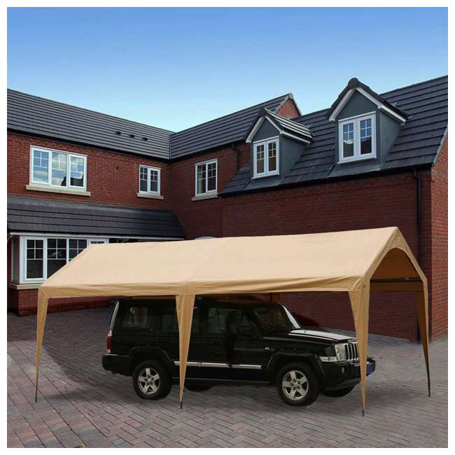 APGP10206B-U-A Abba Patio 10 x 20 Foot Portable Outdoor Carport Canopy -6 Steel Legs (Open Box) 3