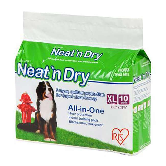 588465 IRIS USA Neat 'n Dry Premium Extra Large Dog Potty Training Pads, 100 Count
