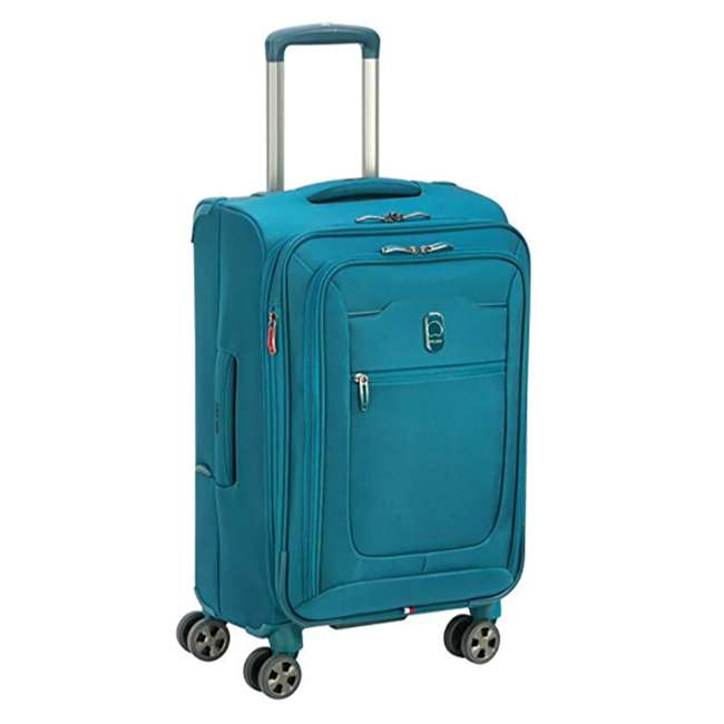 40229198732 DELSEY Paris 3 Sized Reliable Hyperglide Softside Travel Luggage Bag Set, Teal 2