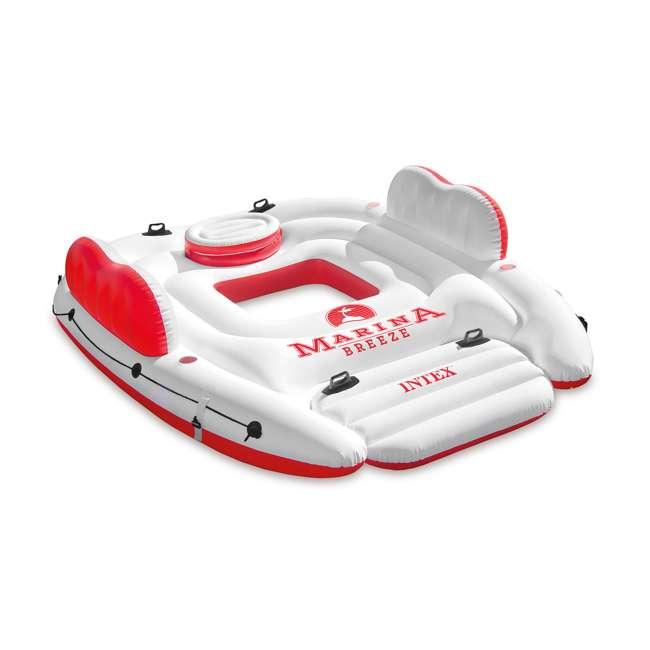 56296CA + 66639E Intex Inflatable Island Float Raft | Intex 120V Quick Fill AC Electric Air Pump 1