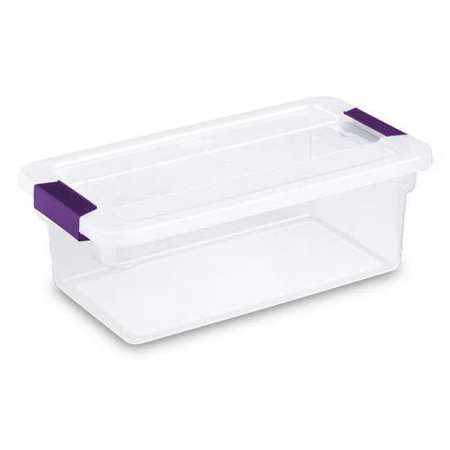 36 x 17511712-U-A  Sterilite 6-Qt ClearView Latch Box Storage Tote Container (Open Box) (36 Pack) 1