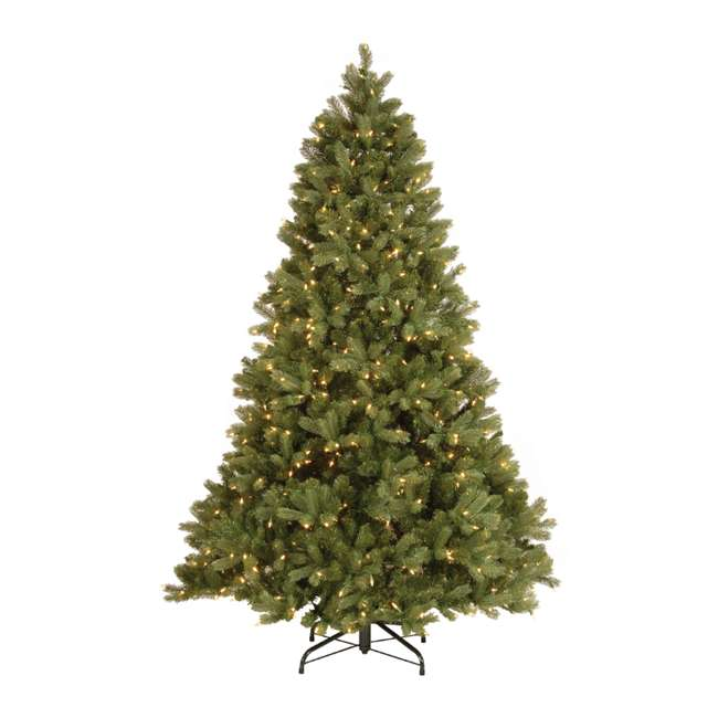 PEDD3-312-75 National Tree Feel Real 7.5 Ft. Fake Douglas Fir Christmas Tree w/ Clear Lights