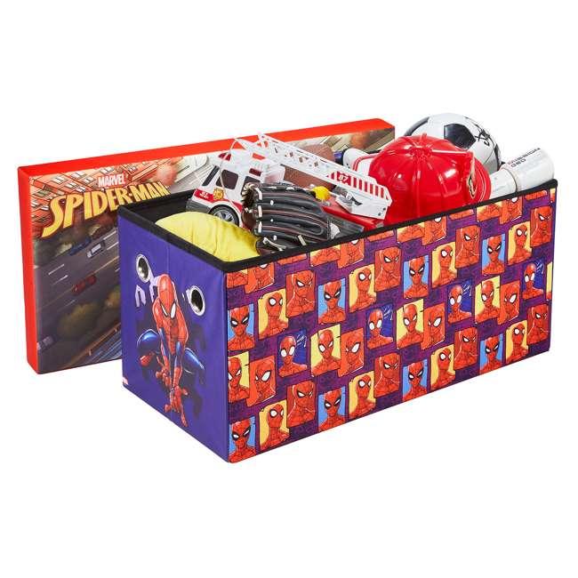 520021-001 Fresh Home Elements 30-Inch Licensed Folding Super Toy Chest & Bench, Spider-Man 5