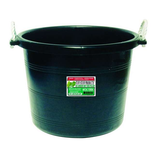 TS-MCK70BK Tuff Stuff 70 Qt Muck Bucket
