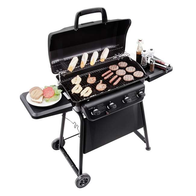 463874717-U-D Char-Broil Classic 4 Burner Backyard Barbecue Cooking Propane Gas Grill(Damaged) 5