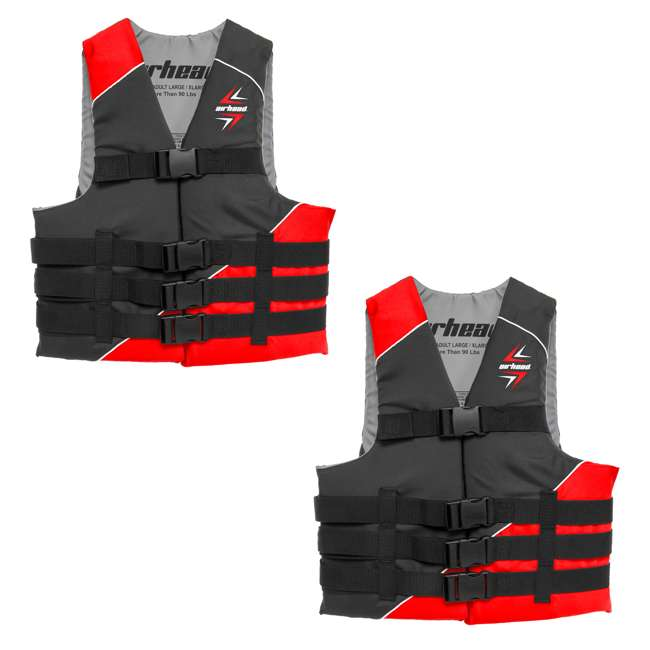 10091-07-A-RD Airhead Slash Adult XS Life Vest (2 Pack)