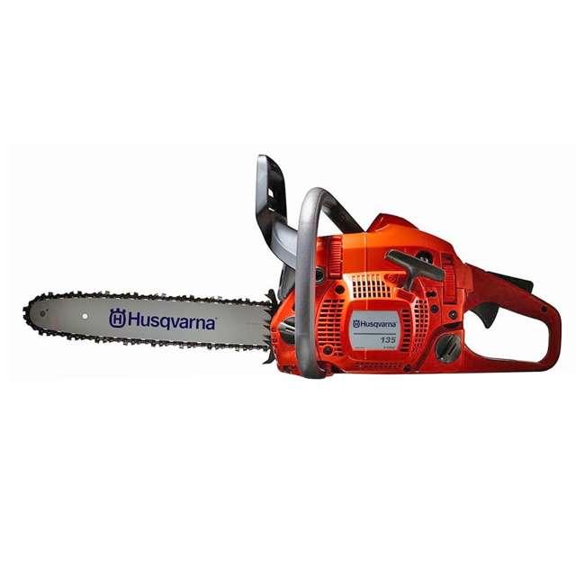 HV-CS-966761807-U-A Husqvarna 135 16 Inch Bar 40.9cc 2 HP 2 Cycle Gas Powered Chainsaw (Open Box) 2