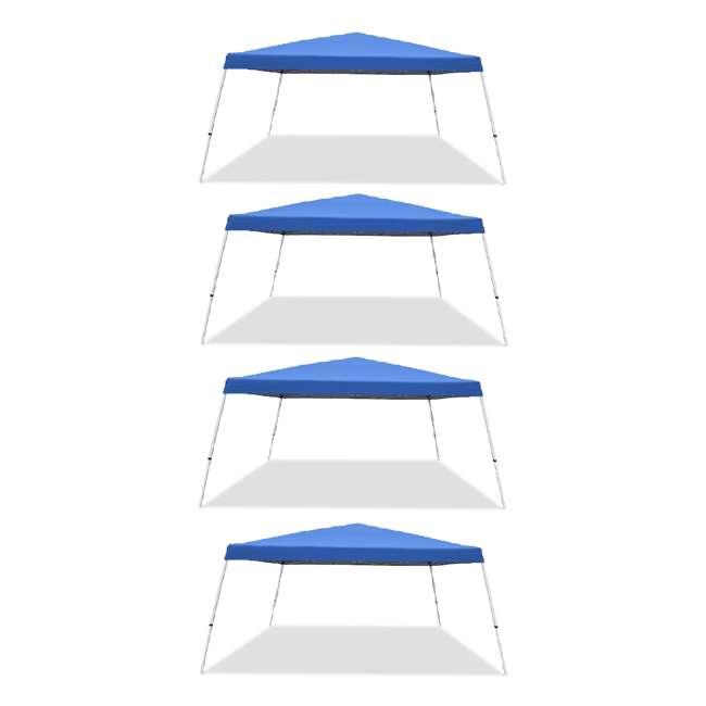 4 x CVAN21207800020 Caravan Canopy Pop-Up Tent V 12 x 12 ft Slanted Leg Instant Shade, Blue (4 Pack)