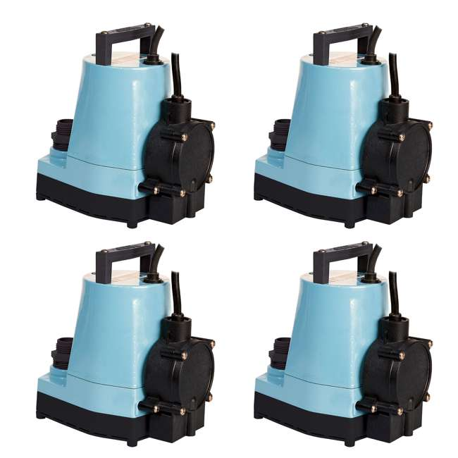 4 x LG-505355 Little Giant 1/6 HP Water Wizard Utility Pump (4 Pack)