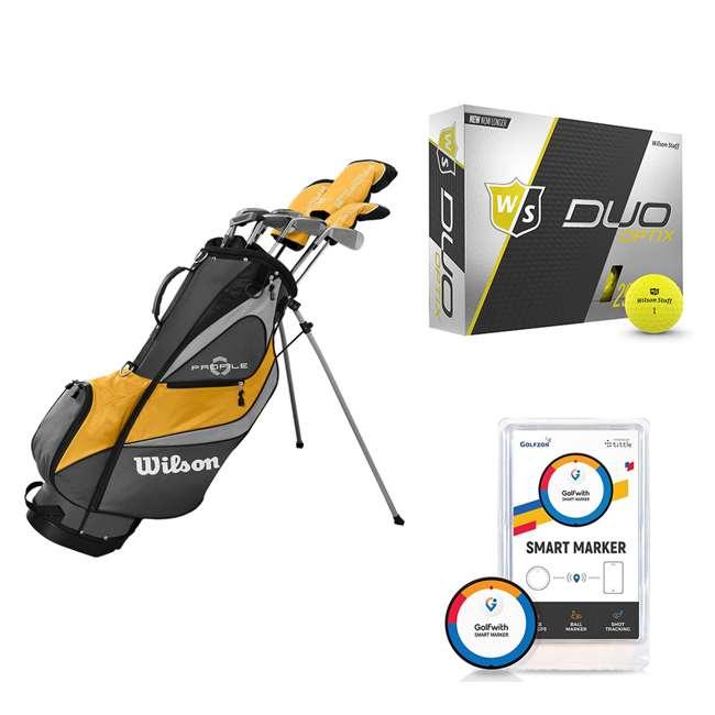 WGGC4370L + WGWP40150 + PGSMGps Wilson Profile XD Men's Golf Club Set + Golf Balls + Golf Shot Distance Tracker