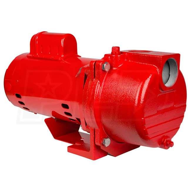 RL-SPRK150-U-B Red Lion 1.5 Horsepower 71 GPM 115V Cast Iron Irrigation Sprinkler Pump (Used)