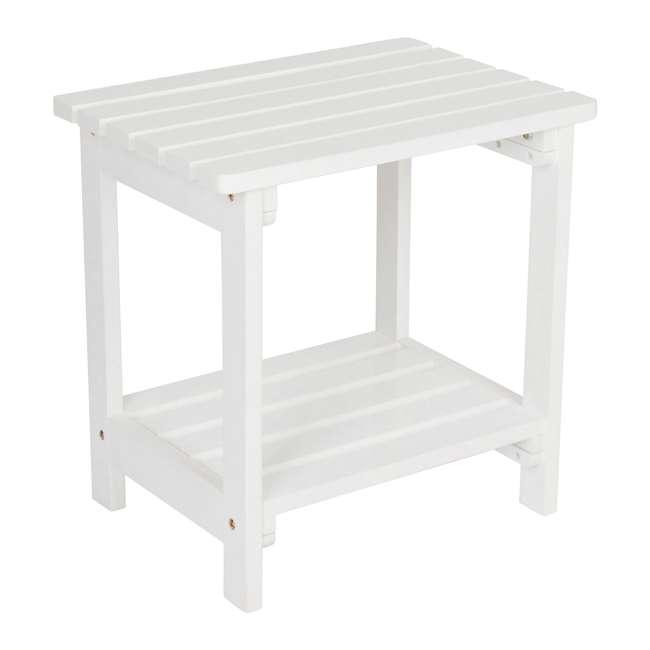 SHN-4104WT Rectangular 19-Inch Side Table, White 2
