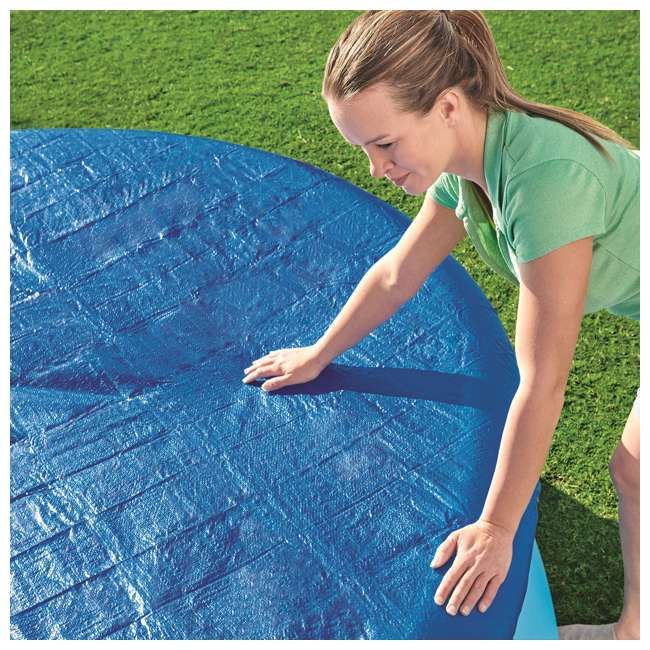 58033E-BW-U-A Bestway Flowclear Fast Set 10 Foot Above Ground Pool Cover (Open Box) (2 Pack) 4