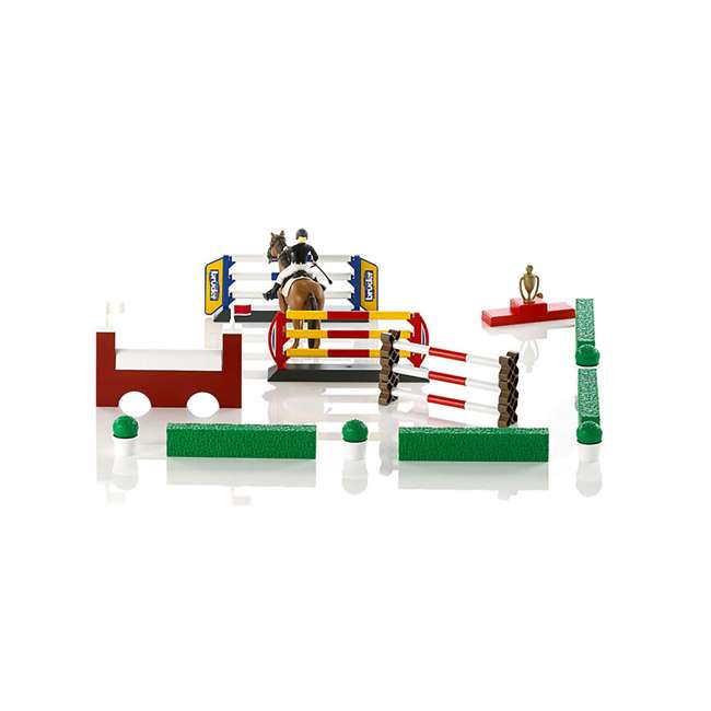 62530-BR Bruder Toys Show Jumping Obstacle Course with Rider and Horse 2