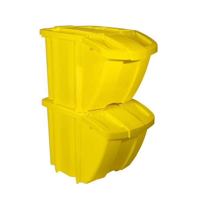 BH18YEL2-U-A Suncast Recycle Bin Kit (Open Box)
