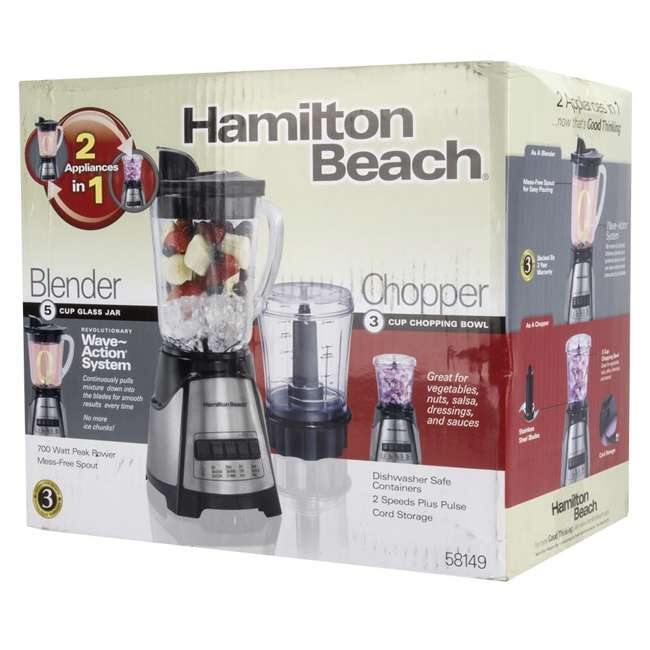 58149 + BABYFOODBLEND Hamilton Beach 2-In-1 Crusher Blender Chopper with Blender Baby Foods Cookbook 7